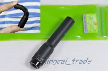 Short Flexible Durable Silicone Dual Band Antenna SMA-Male for Yaesu ICOM Radio