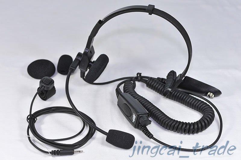Heavy Duty Headphone Headset for Motorola GP-328 GP-340 with Helmet Boom Mic