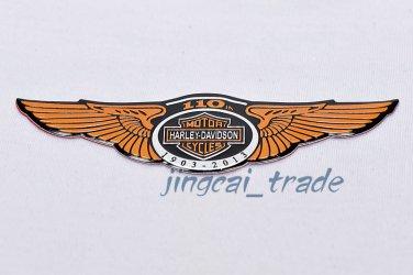 Harley Davidson 110 Anniversary Motorcycle Aluminium Emblem Badge Sticker Decal