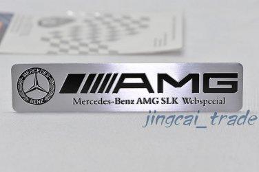 Benz AMG SLK Webspecial Aluminium Decal Badge Emblem Universal for Auto Car SUV