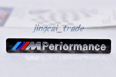 ///M Performance Car Aluminium Decal Badge Emblem Universal for BMW Carbon Fiber
