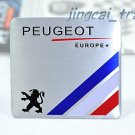 PEUGEOT Europe Aluminium Decal Badge Emblem Universal for Auto Car Van SUV