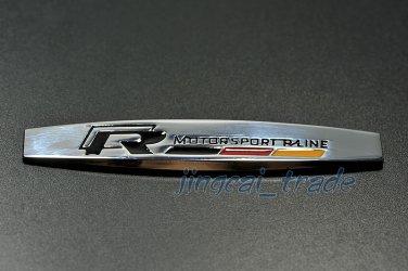 R-Line Motor Sport VW 3D Car SUV Fender Emblem Badge Sticker Decal Chromed Metal