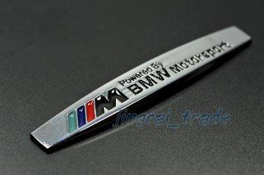 BMW ///M Motor Sport 3D Car SUV Fender Emblem Badge Sticker Decal Chromed Metal