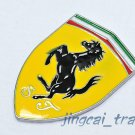 3D Car Auto Shield Emblem Badge Sticker Decal Metal SJ Logo for Ferrari