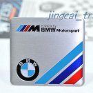 BMW ///M Motor Sport Aluminium Decal Badge Emblem Universal for Auto Car SUV