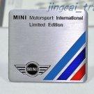 MINI Motor Sport Limited Aluminium Decal Badge Emblem Universal for Auto Car SUV