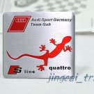 Audi Sport S-Line quattro Aluminium Decal Badge Emblem for Auto Car SUV Sline