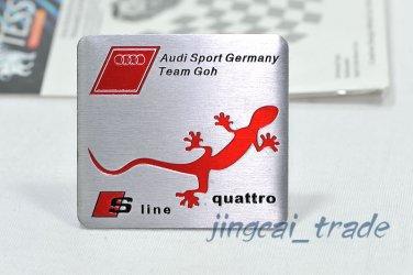 Audi Sport S-Line quattro Aluminium Decal Badge Emblem for Auto Car SUV Sline