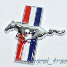 3D Ford Mustang Dashboard Car Emblem Badge Chromed Metal Tri-Bar Running Horse