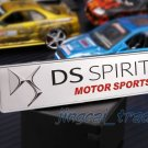 DS SPIRIT MOTOR SPORTS 3D Thick Aluminium Car Auto Decal Badge Emblem Sticker