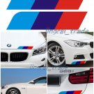 Pair (2 pcs) Car Auto SUV 3-Color Strips Sticker Decal For BMW M Sport Tech