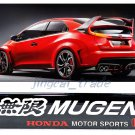 MUGEN HONDA MOTO SPORTS Logo Epoxy Aluminium Car Auto Decal Badge Emblem Sticker