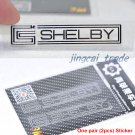 Pair (2 pcs) Polished Chrome SHELBY Logo Car Auto Emblem Sticker Decal