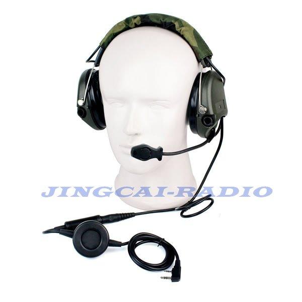 Tactical Noise-reduction Electronic Sound Pickup Headset Kenwood Baofeng Radio