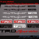Set (11 pcs) Color Racing Development TRD Logo Car Sticker Decal Emblem Toyota