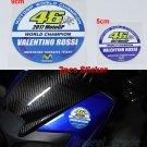 2pcs VALENTINO ROSSI 46 2017 MOTOGP WORLD CHAMPION YAMAHA TEAM Signature Sticker Decal
