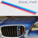 3-Color Stripes Car Sticker Vinyl Decal Badge Emblem For BMW Grill M Sport Tech