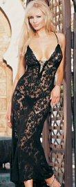 - 2 Piece Spanish Lace Long Dress -