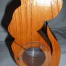 Vintage Wooden Mouse Bank Plexiglass and Wood Crafted