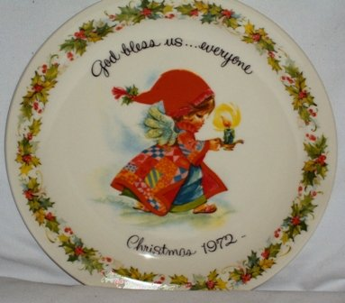 Vintage American Greetings Gigi Christmas Decorative Collectible Plate 1972