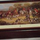 "Wooden Hinged Wood Jewelry Box w/ Art Portrait ""The Bury Hunt"" New Zealand Made"
