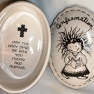Enesco by Marci Confirmation Ceramic Keepsake Covered Box w Gift Box