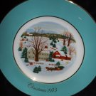 Avon Christmas Collector's Plate by Enoch Wedgwood England First Edition Vintage 1973