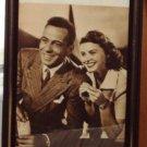 Fotocard Framed Photo Actors Humphrey Bogart Ingrid Bergman Movie Stars Vintage 1950's