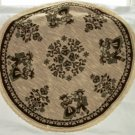 Austrian Linen Round Reversible Table Topper Tyrolean Couple