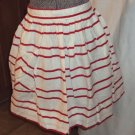Vintage Red & White Candy Stripes Full Swing Skirt Hostess Half Apron