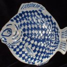 Americana Plate French Country Blue & White Fish Platter