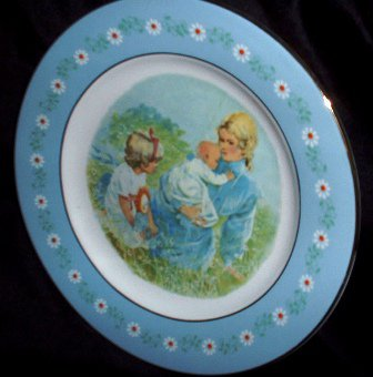 Avon Ironstone Tenderness Collectors Plate 1974 Vintage by Pontesa Made in Spain