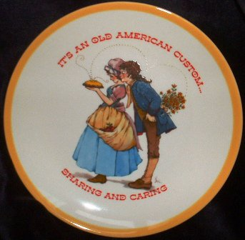 Gibson Greeting Cards Keepsake Collector Dear Hearts Plate 1973 Limited Edition