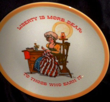 Gibson Greeting Cards Limited Edition Vintage 1973 Collector Keepsake Dear Hearts Plate Betsy Ross