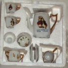 Peter Rabbit & Benjamin Bunny Beatrix Potter Child's 10 Piece Mini Tea Set New in Box
