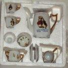 Peter Rabbit & Benjamin Bunny Beatrix Potter Child's 10 Piece Mini Tea Set New in Box