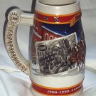 Budweiser Ceramarte 1999 Holiday Beer Stein Mug A Century of Holiday Tradition