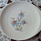 Steubenville Pottery Platter Fairlane Pattern Cactus Rose Tiffany Blue Made in Ohio USA 1950s