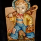 Hummel-Type Vintage Boy Planter The Merry Wander Figurine Pottery