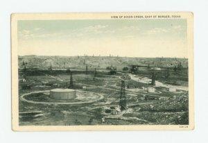 View of Dixon Creek, East of Borger, Texas Postcard
