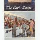 The Captain Dukes Fishing Boat , Destin, Florida Postcard with Attached Ticket