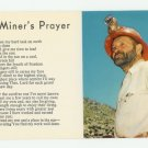 A Miner's Prayer (Poem) Postcard