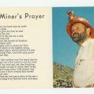 A Miner's Prayer (Poem) Postcard
