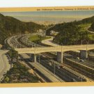 Cahuenga Freeway Hollywood California Linen Postcard