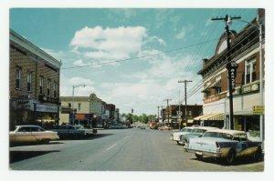 Walnut Street Rogers Arkansas Postcard 1950s