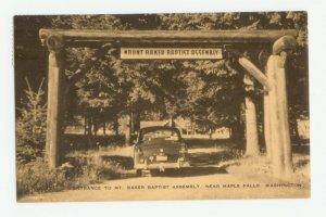 Mount Baker Baptist Assembly Maple Falls Washington Postcard 1950s