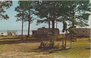Carrabelle, Florida campground Early 1960s? Postcard