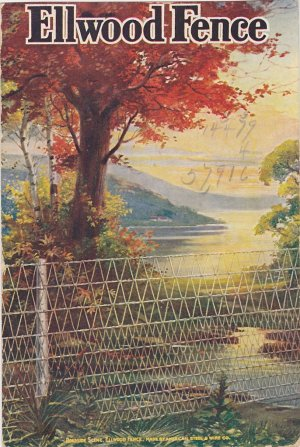 Ellwood Fence Advertising Postcard
