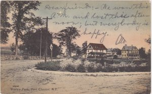 Wesley Park Port Chester New York Postcard 1907
